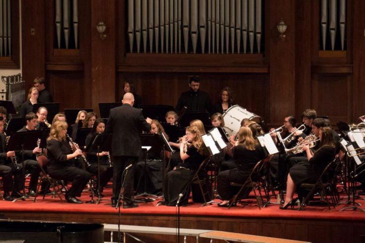 students in concert band