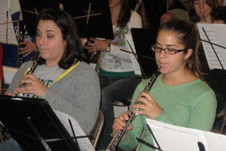 students playing wind instruments