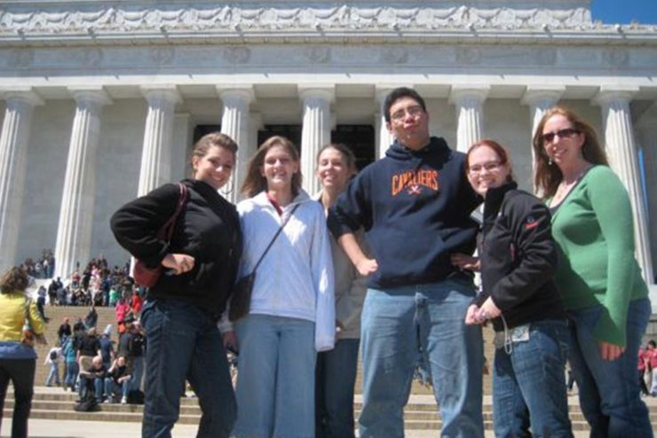 band students in Washington, D.C.