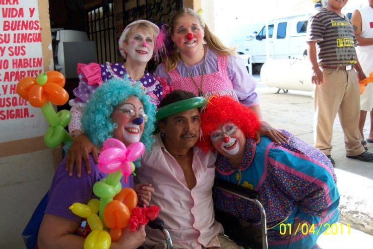 clowns posing for a photo