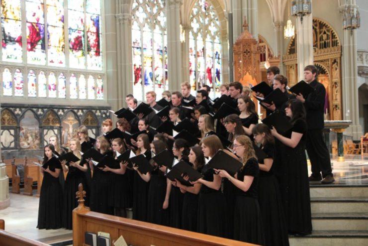 Asbury University Chorale at St. Mary's Basilica in Covington, Kentucky