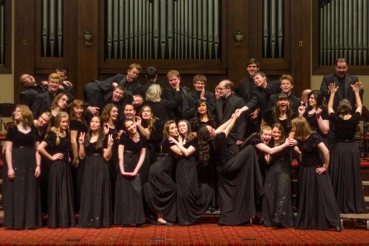 Asbury University Chorale crazy group photo