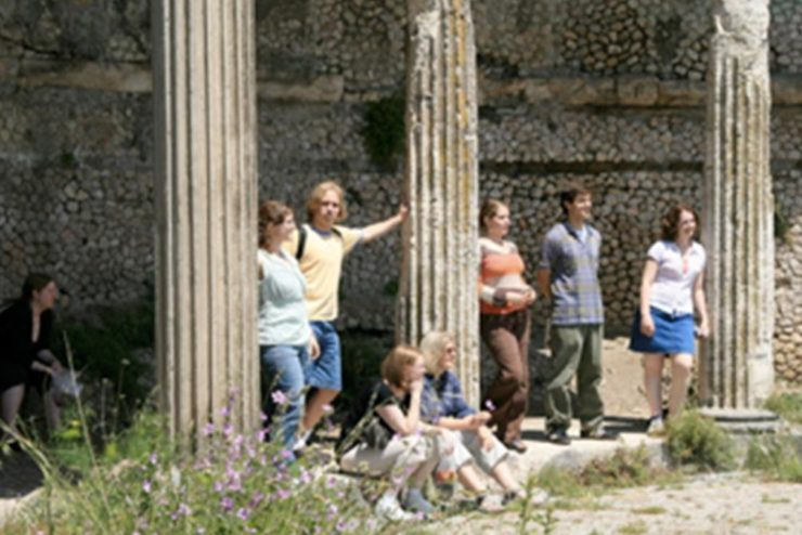 Asbury University vocal ensemble in Palestrina, Italy