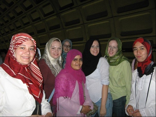 students wearing headcoverings