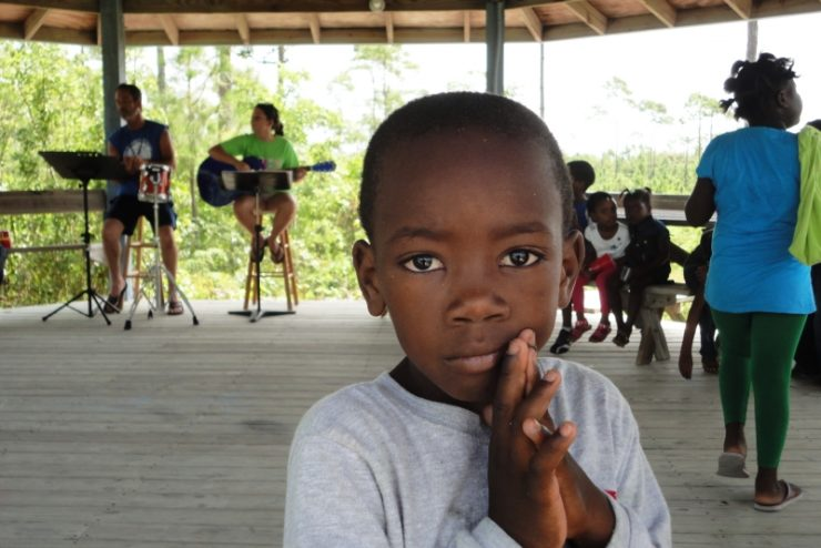 a child in the Bahamas