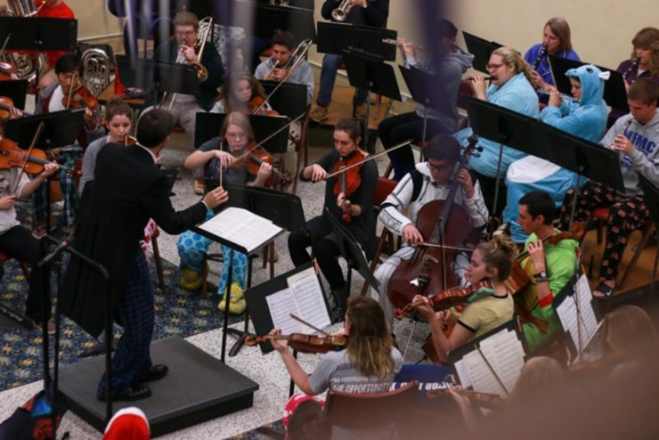 orchestra concert in the Student Center