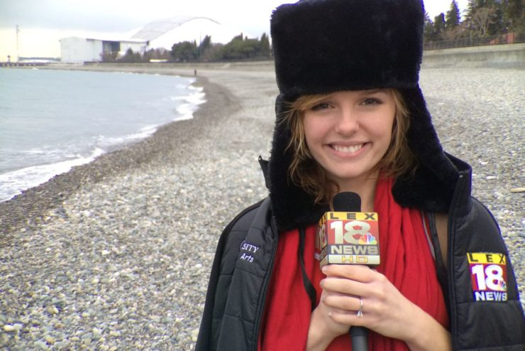 student journalist at the Sochi Olympics