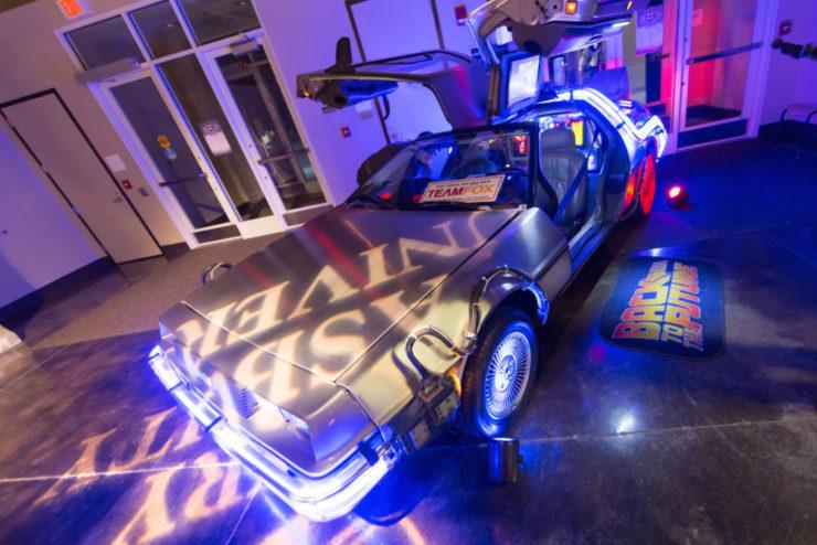 DeLorean on display