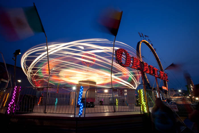 timelapse photo of a carnival ride