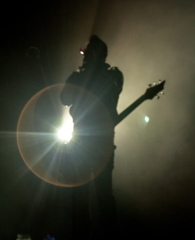 silhouette of a musician