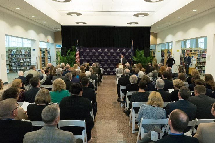 dedication ceremony for Joe Pitts Center for Public Policy