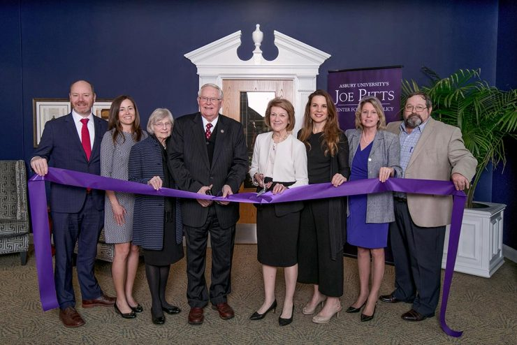 ribbon cutting for the Joe Pitts Center for Public Policy