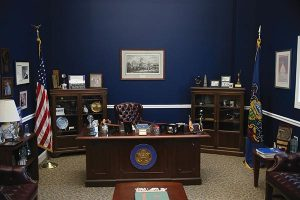 replica of Joe Pitts' office