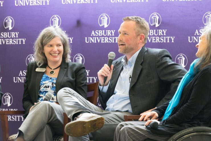 faculty panel in the Student Center
