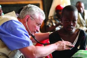David Stevens working as a medical missionary.