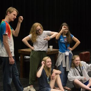 ImpactU acting students learn new skills.