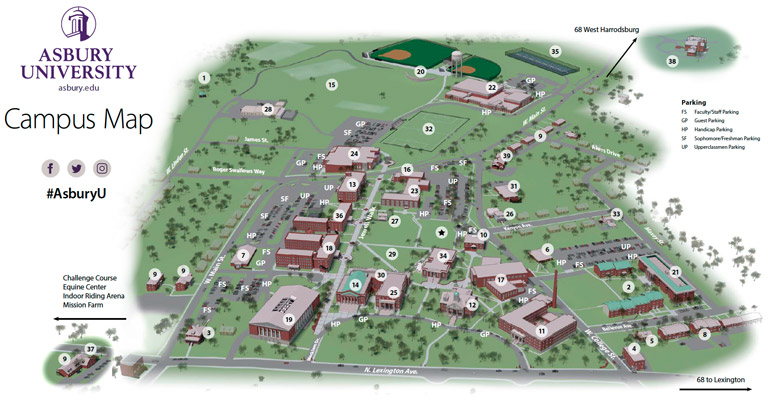 Asbury University Campus Map