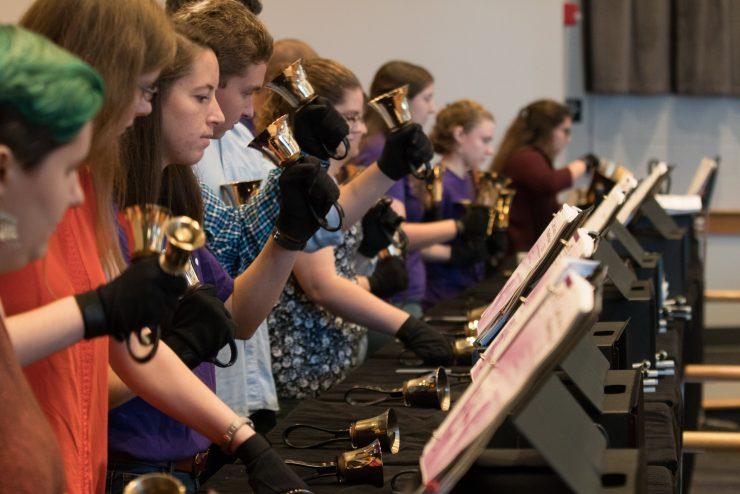 student handbell choir