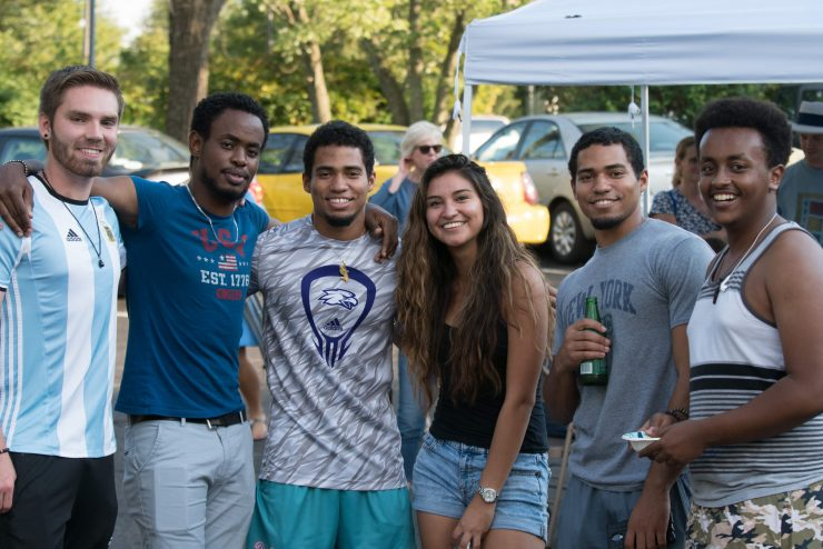 Students at Goat Roast