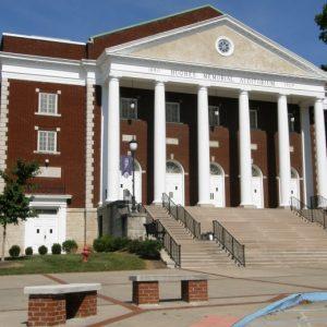 facade of Hughes Memorial Auditorium