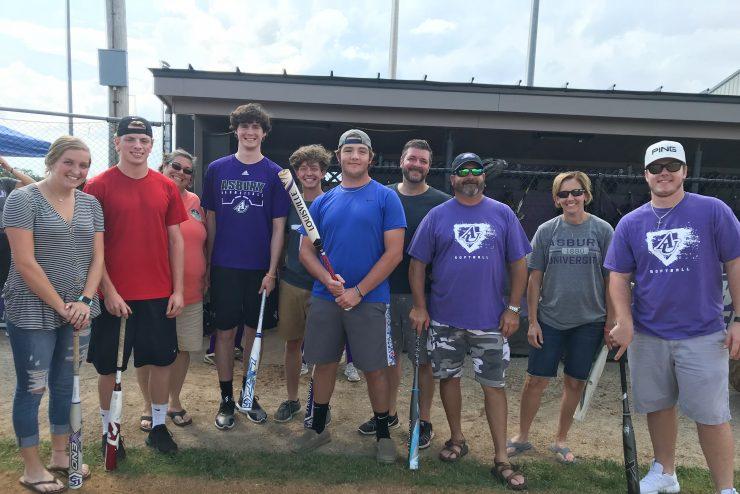 family of softball players