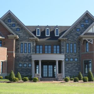 brick and stone exterior of Windsor Manor