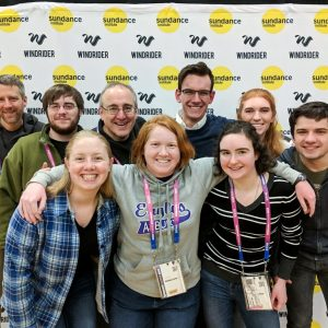 group of smiling students at Sundance Film Festival